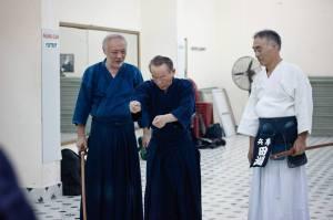 Nishio sensei, Tabuchi sensei và Nakai sensei hướng dẫn về Kendo Kata